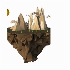 Low Poly Floating Island 3d Render Small Garden Flag (two Sides)