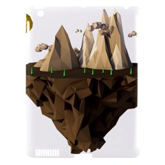Low Poly Floating Island 3d Render Apple Ipad 3/4 Hardshell Case (compatible With Smart Cover)