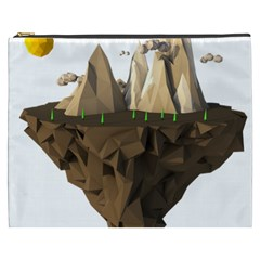 Low Poly Floating Island 3d Render Cosmetic Bag (xxxl)