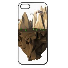 Low Poly Floating Island 3d Render Apple Iphone 5 Seamless Case (black)