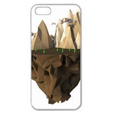 Low Poly Floating Island 3d Render Apple Seamless Iphone 5 Case (clear)