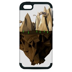 Low Poly Floating Island 3d Render Apple Iphone 5 Hardshell Case (pc+silicone)
