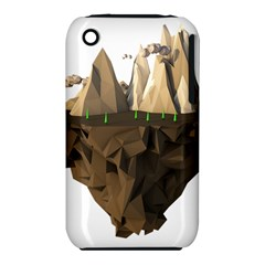 Low Poly Floating Island 3d Render Iphone 3s/3gs