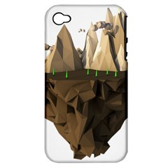 Low Poly Floating Island 3d Render Apple Iphone 4/4s Hardshell Case (pc+silicone)