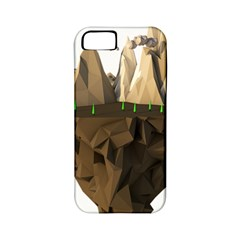 Low Poly Floating Island 3d Render Apple Iphone 5 Classic Hardshell Case (pc+silicone)