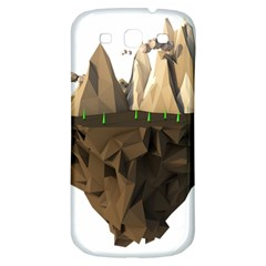 Low Poly Floating Island 3d Render Samsung Galaxy S3 S Iii Classic Hardshell Back Case