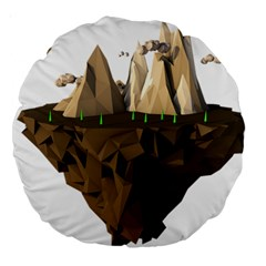 Low Poly Floating Island 3d Render Large 18  Premium Round Cushions