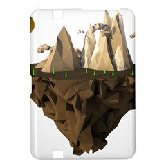 Low Poly Floating Island 3d Render Kindle Fire Hd 8 9