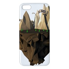 Low Poly Floating Island 3d Render Apple Iphone 5 Premium Hardshell Case
