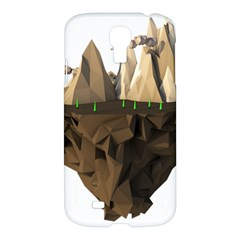 Low Poly Floating Island 3d Render Samsung Galaxy S4 I9500/i9505 Hardshell Case