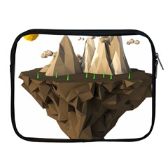 Low Poly Floating Island 3d Render Apple Ipad 2/3/4 Zipper Cases
