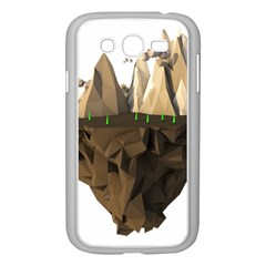 Low Poly Floating Island 3d Render Samsung Galaxy Grand Duos I9082 Case (white)