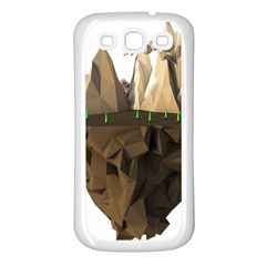 Low Poly Floating Island 3d Render Samsung Galaxy S3 Back Case (white)