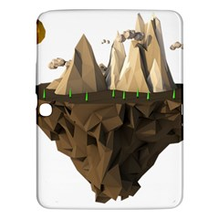 Low Poly Floating Island 3d Render Samsung Galaxy Tab 3 (10 1 ) P5200 Hardshell Case