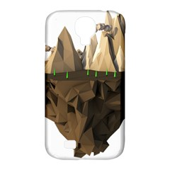 Low Poly Floating Island 3d Render Samsung Galaxy S4 Classic Hardshell Case (pc+silicone)