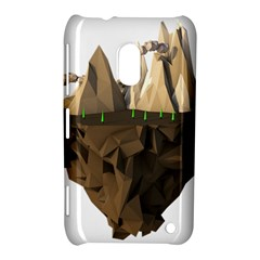Low Poly Floating Island 3d Render Nokia Lumia 620