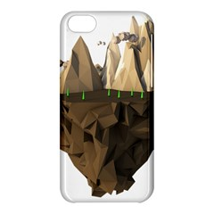 Low Poly Floating Island 3d Render Apple Iphone 5c Hardshell Case
