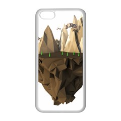 Low Poly Floating Island 3d Render Apple Iphone 5c Seamless Case (white)