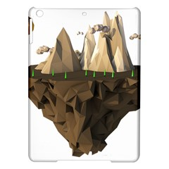 Low Poly Floating Island 3d Render Ipad Air Hardshell Cases