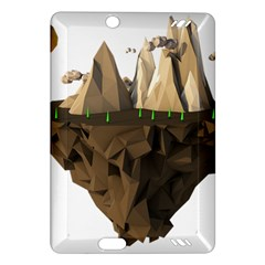 Low Poly Floating Island 3d Render Amazon Kindle Fire Hd (2013) Hardshell Case