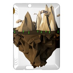 Low Poly Floating Island 3d Render Kindle Fire Hdx Hardshell Case