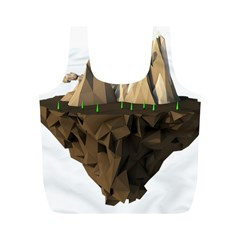 Low Poly Floating Island 3d Render Full Print Recycle Bags (m)