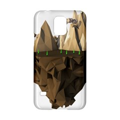 Low Poly Floating Island 3d Render Samsung Galaxy S5 Hardshell Case