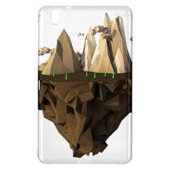 Low Poly Floating Island 3d Render Samsung Galaxy Tab Pro 8 4 Hardshell Case