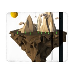 Low Poly Floating Island 3d Render Samsung Galaxy Tab Pro 8 4  Flip Case