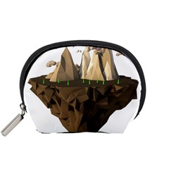 Low Poly Floating Island 3d Render Accessory Pouches (small)