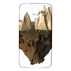 Low Poly Floating Island 3d Render Samsung Galaxy S5 Back Case (white)
