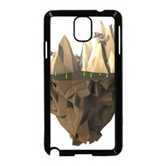 Low Poly Floating Island 3d Render Samsung Galaxy Note 3 Neo Hardshell Case (black)