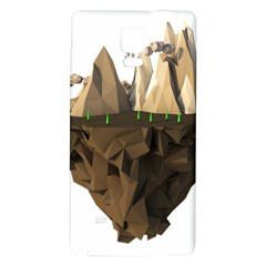 Low Poly Floating Island 3d Render Galaxy Note 4 Back Case
