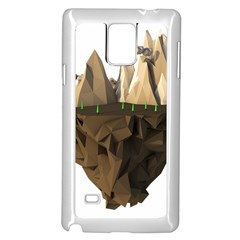 Low Poly Floating Island 3d Render Samsung Galaxy Note 4 Case (white)