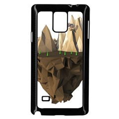 Low Poly Floating Island 3d Render Samsung Galaxy Note 4 Case (black)