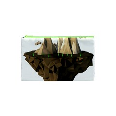 Low Poly Floating Island 3d Render Cosmetic Bag (xs)