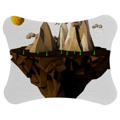 Low Poly Floating Island 3d Render Jigsaw Puzzle Photo Stand (Bow)