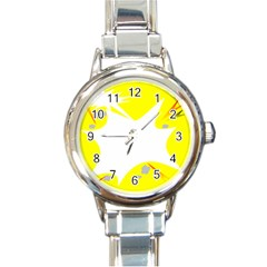 Mail Holyday Vacation Frame Round Italian Charm Watch