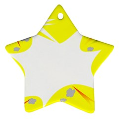 Mail Holyday Vacation Frame Ornament (star)