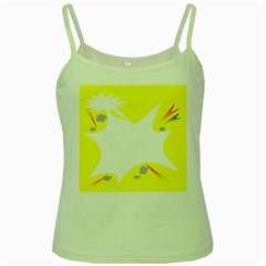 Mail Holyday Vacation Frame Green Spaghetti Tank