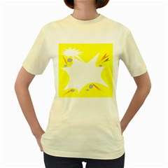 Mail Holyday Vacation Frame Women s Yellow T-Shirt