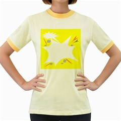 Mail Holyday Vacation Frame Women s Fitted Ringer T Shirts