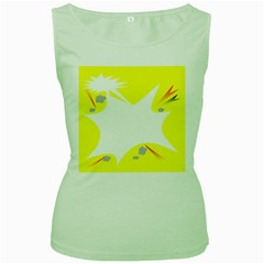 Mail Holyday Vacation Frame Women s Green Tank Top