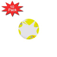 Mail Holyday Vacation Frame 1  Mini Buttons (10 Pack)