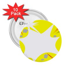 Mail Holyday Vacation Frame 2.25  Buttons (10 pack)