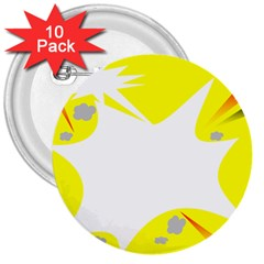 Mail Holyday Vacation Frame 3  Buttons (10 Pack)
