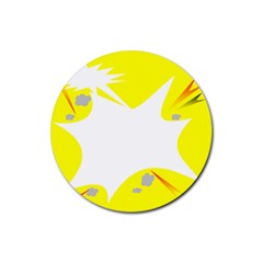 Mail Holyday Vacation Frame Rubber Coaster (Round)