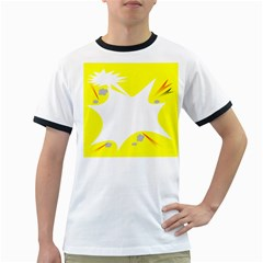 Mail Holyday Vacation Frame Ringer T Shirts