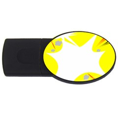 Mail Holyday Vacation Frame Usb Flash Drive Oval (4 Gb)