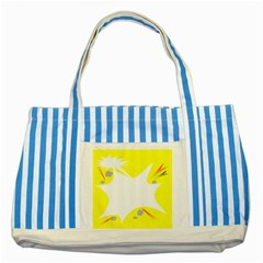 Mail Holyday Vacation Frame Striped Blue Tote Bag